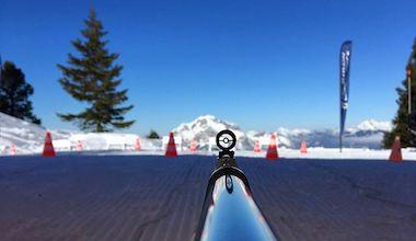 activité team building séminaire offsite initiation biathlon avec des biathlètes pro